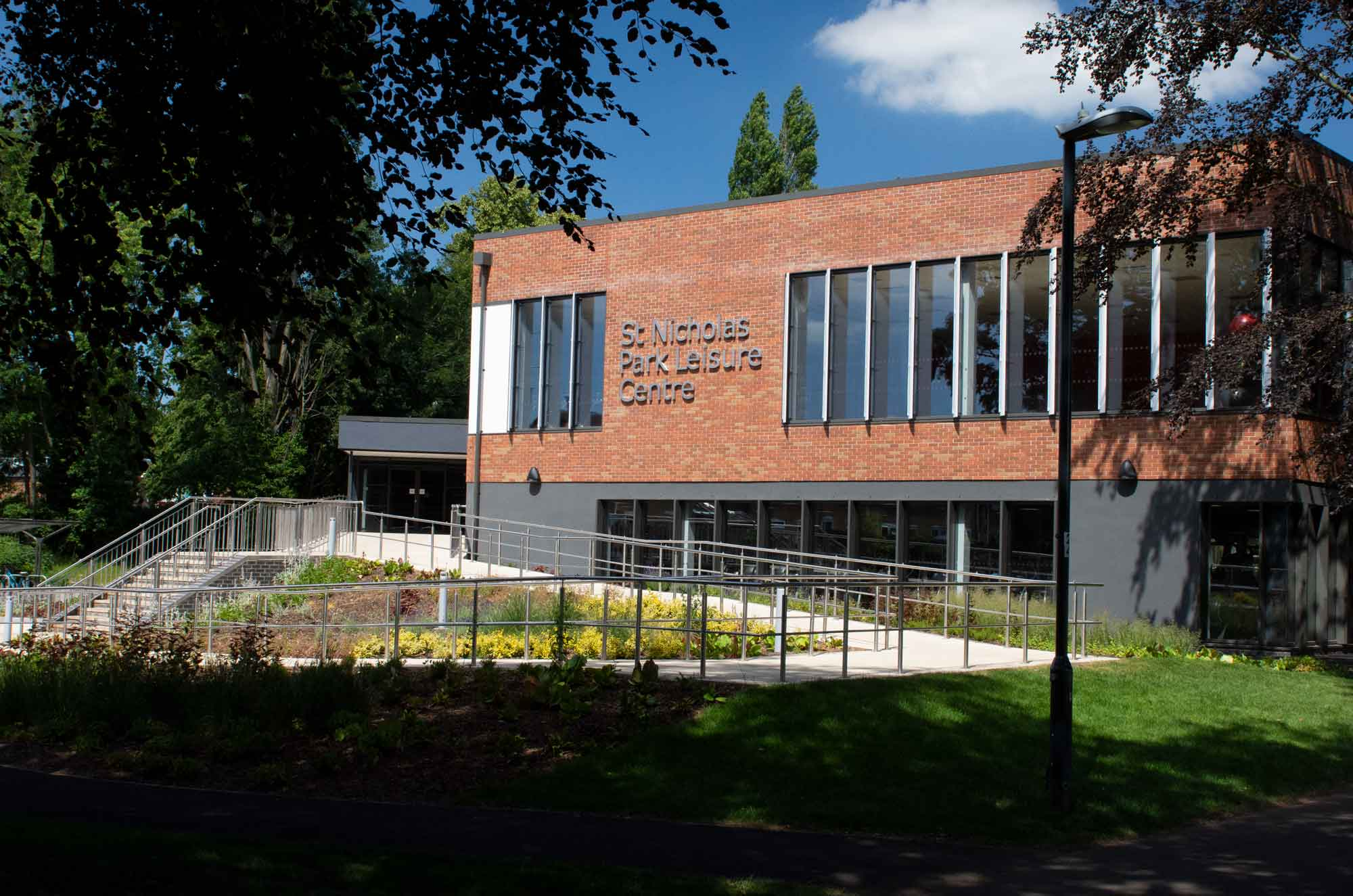 St Nicholas Park Leisure Centre - J A Burke Construction Limited - Midlands based ground works, civils and RC frame company.