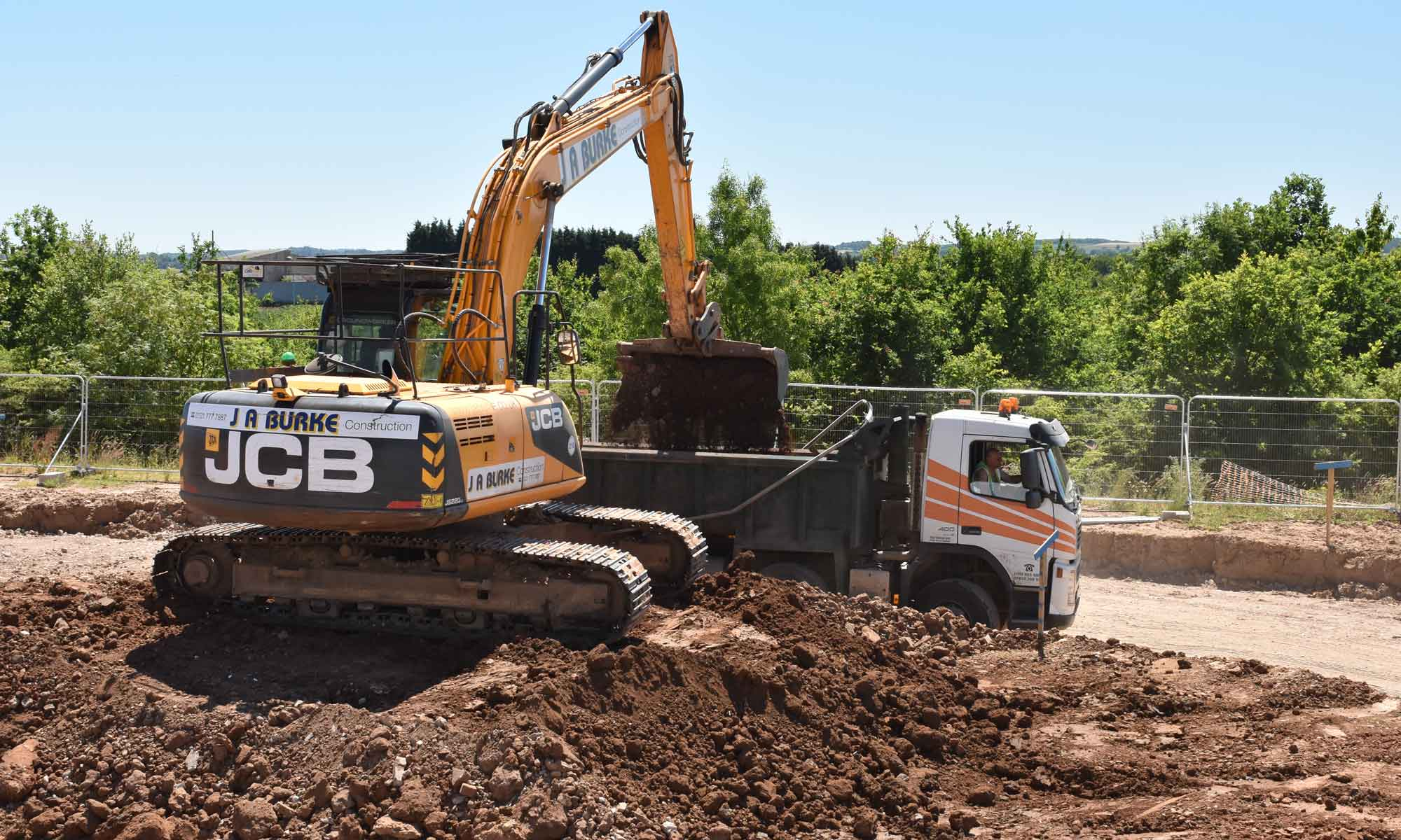 Services - J A Burke Construction Limited - Midlands based ground works, civils and RC frame company.