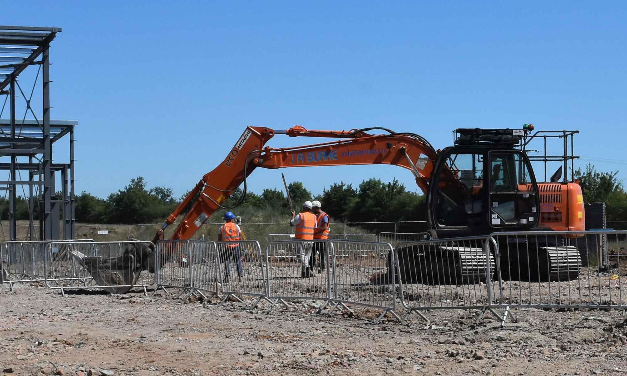 Aldi Chelaston - J A Burke Construction Limited - Midlands based ground works, civils and RC frame company.