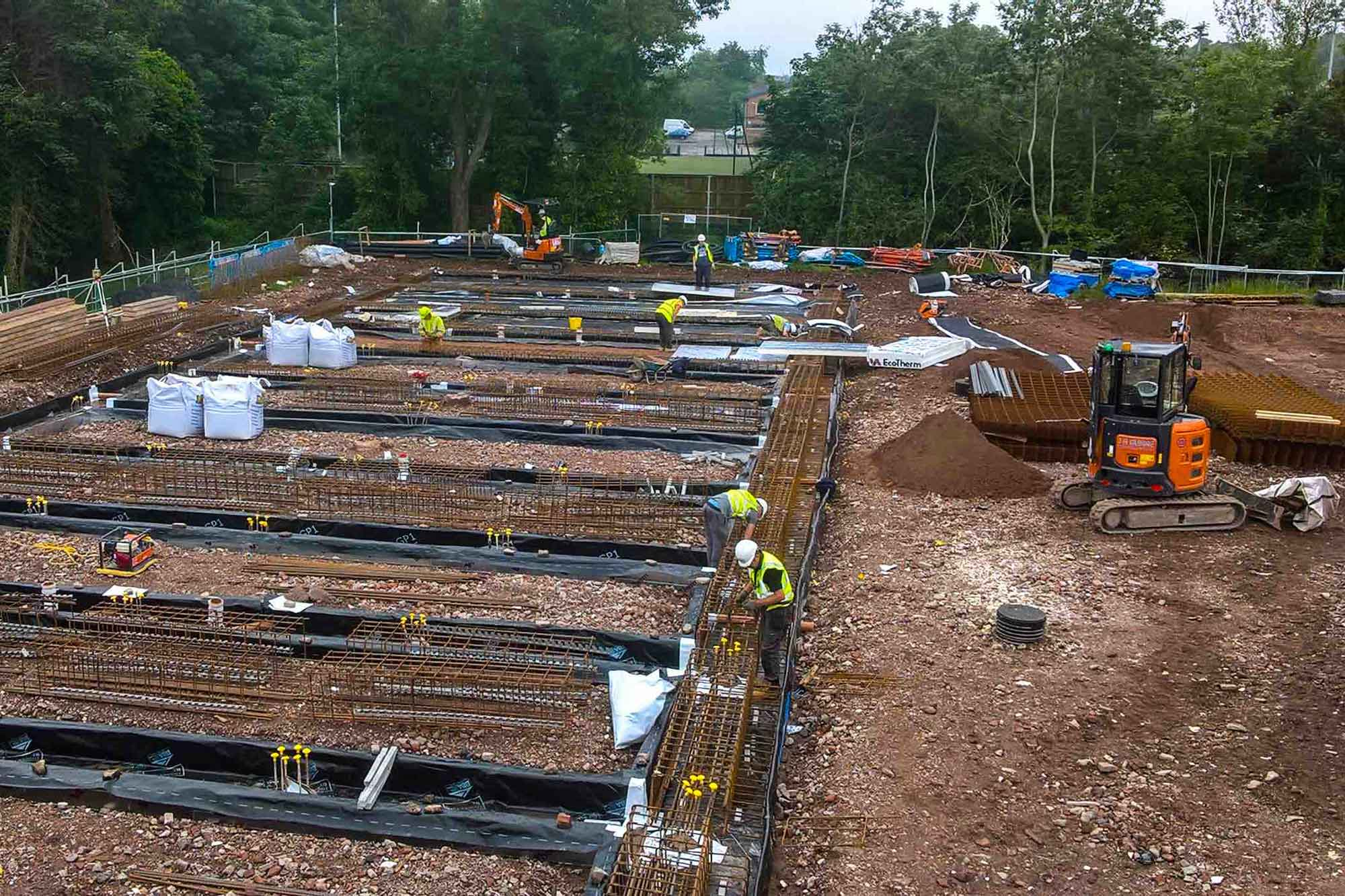 Projects - J A Burke Construction Limited -Midlands based ground works, civils and RC frame company.