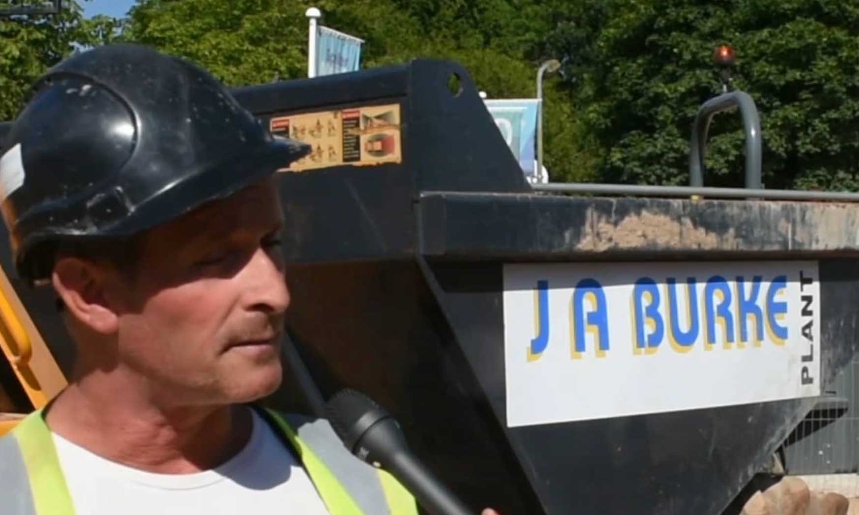 Apprentice video - J A Burke Construction Limited - Midlands based ground works, civils and RC frame company.