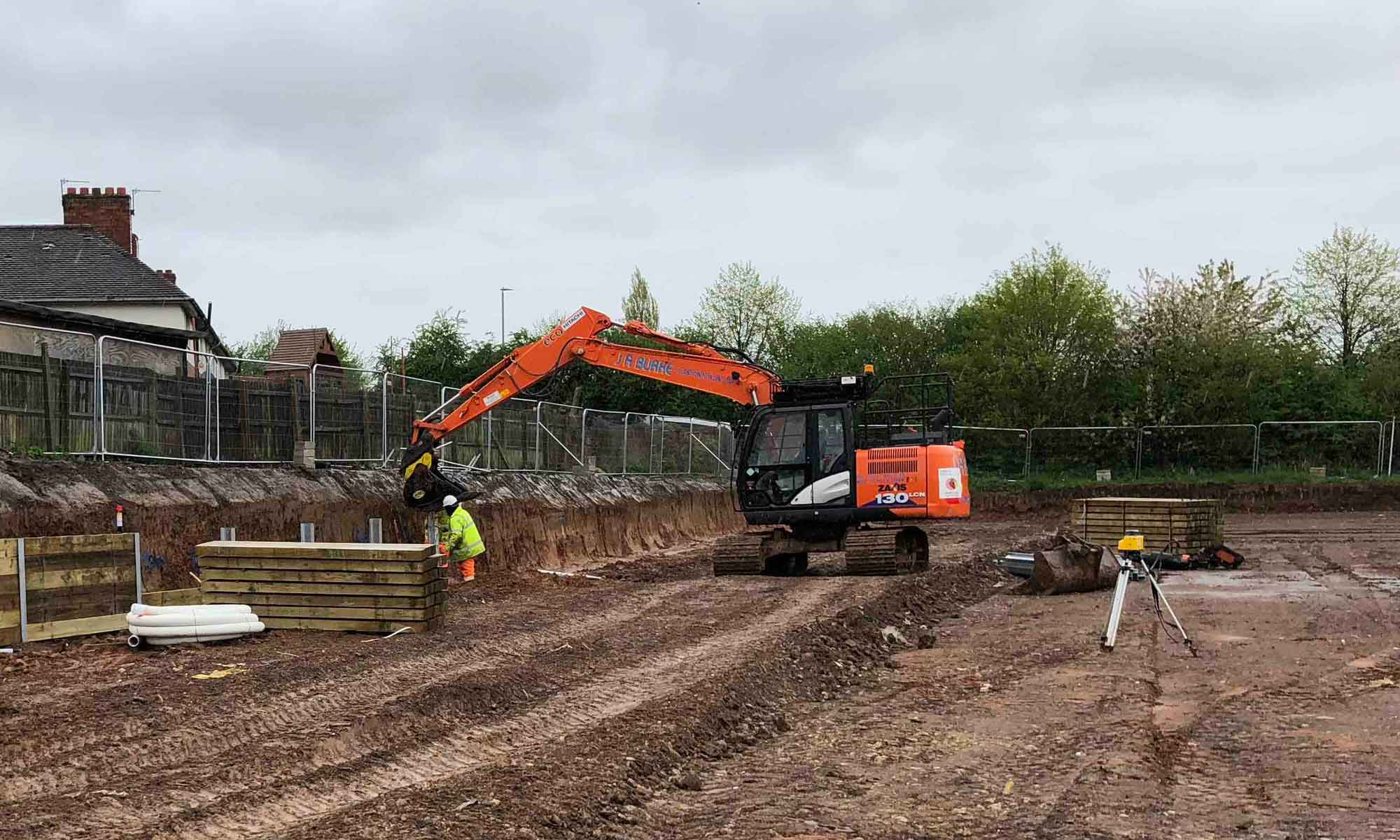 Loughborough - J A Burke Construction Limited - Midlands based ground works, civils and RC frame company.