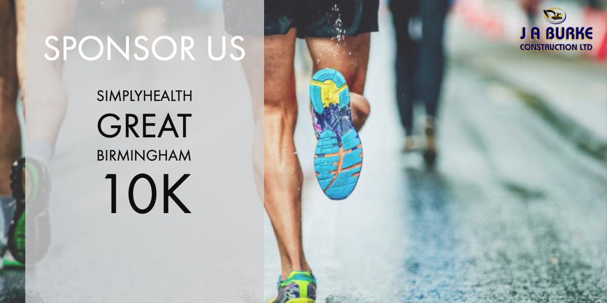 Birmingham 10k - J A Burke Construction Limited - Midlands based ground works, civils and RC frame company.