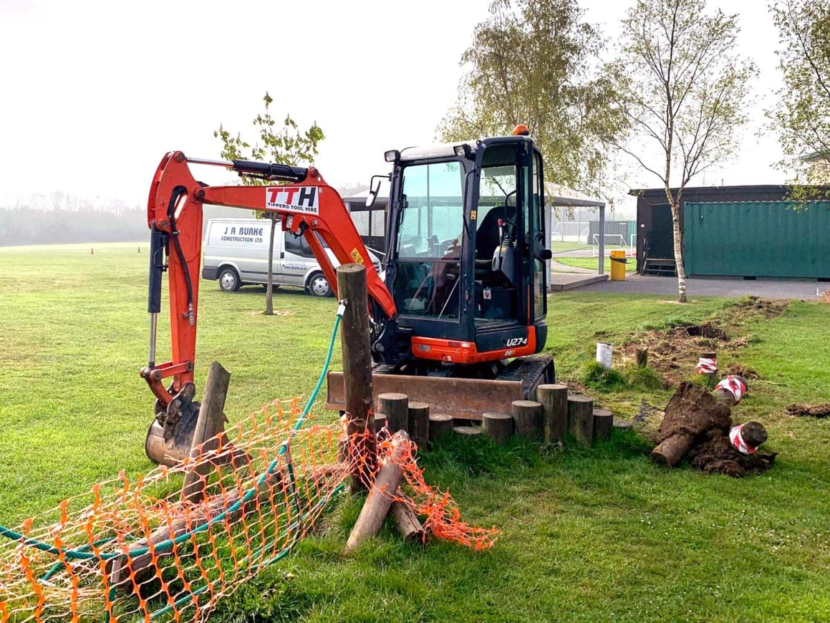 Coppice Primary School - J A Burke Construction Limited - Midlands based ground works, civils and RC frame company.