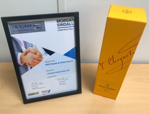JAB awarded Health & Safety Award 2019 by Morgan Sindall